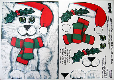 STENCILLO CAT TEMPLATE PAPER CHRISTMAS FUR by BCE – Christmas Paper Template