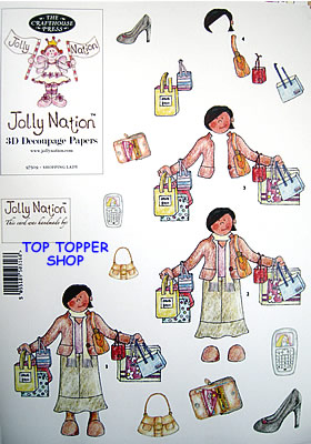 WOMEN - SHOPPING LADY asian skin PAPER NATION A4 SBS DECOUPAGE SHEET