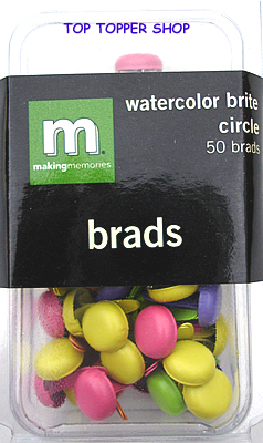50 CIRCLE BRADS WATERCOLOUR BRITE - MAKING MEMORIES