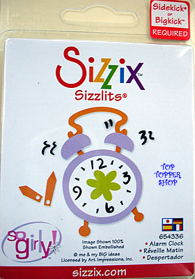 ALARM CLOCK SIZZIX SIZZLITS SINGLE DIE
