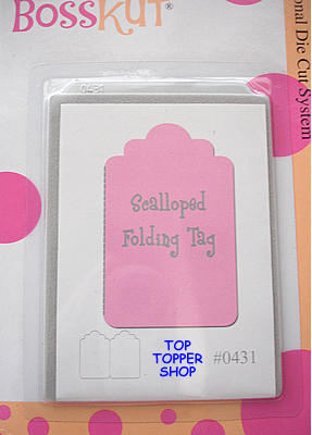 BOSSKUT DIE - FOLDING SCALLOPED TAG 0431