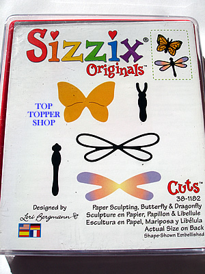 BUTTERFLY & DRAGONFLY SIZZIX LARGE RED DIE, PAPER SCULPTING