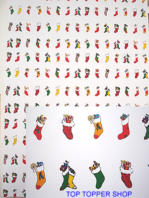 CHRISTMAS STOCKINGS A4 BACKING PAPER