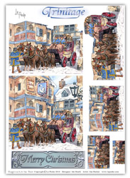 CHRISTMAS TRINITAGE - STAGECOACH IN THE SNOW - LA PASHE