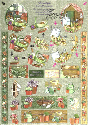FREESTYLE DUFEX DECOUPAGE & TOPPERS GARDENING