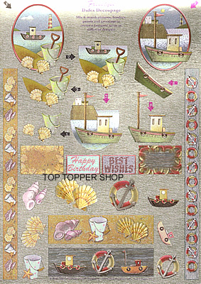 FREESTYLE DUFEX DECOUPAGE & TOPPERS SEASIDE