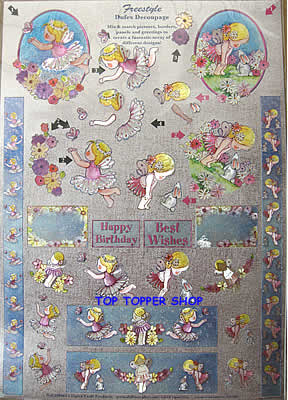 FREESTYLE DUFEX DIE CUT DECOUPAGE & TOPPERS CUTE FAIRIES