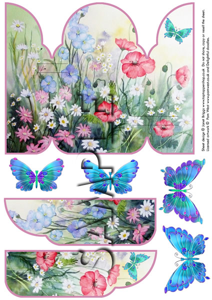 GATEFOLD POP UP DECOUPAGE CARD  digital download