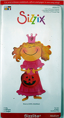GIRL IN PRINCESS COSTUME SIZZIX SIZZLITS MEDIUM SINGLE DIE