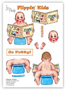 LA PASHE DECOUPAGE - FLIPPIN KIDS - FLIPPIN' POTTY