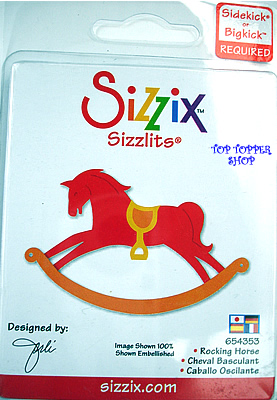 ROCKING HORSE, TRADITIONAL SIZZIX SIZZLITS SINGLE DIE