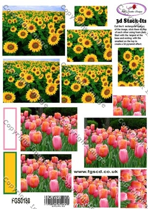 STACK-ITS 158 SUNFLOWERS & TULIPS
