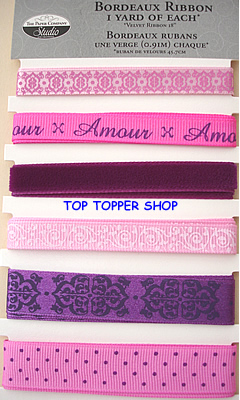 THE PAPER COMPANY - BORDEAUX - RIBBON 6 yards
