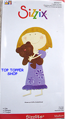 TODDLER WITH TEDDY SIZZIX SIZZLITS MEDIUM SINGLE DIE