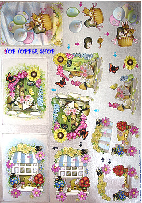 WOODLAND FRIENDS DUFEX DIE CUT DECOUPAGE SHEET